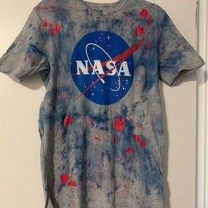 DIY Custom dyed NASA tee